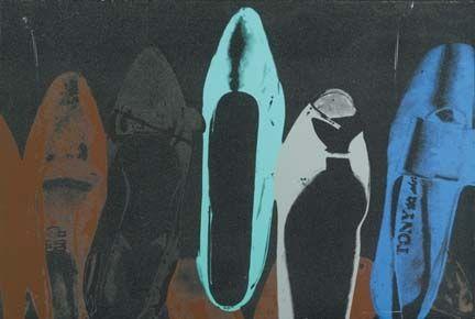 Screenprint Warhol - Shoes with Diamond Dust