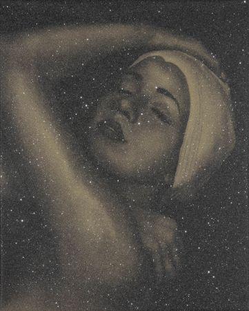 Lithograph Feuerman - SHOWER PORTRAIT (GOLD)