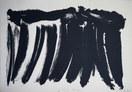 Lithograph Debré - Signe paysage 1986
