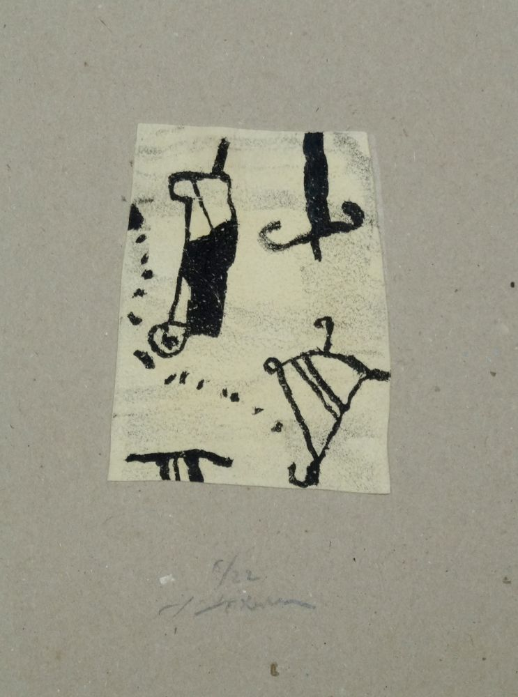 Lithograph Texier - Signes
