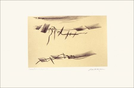 Lithograph Baltazar - Signes espaces 6
