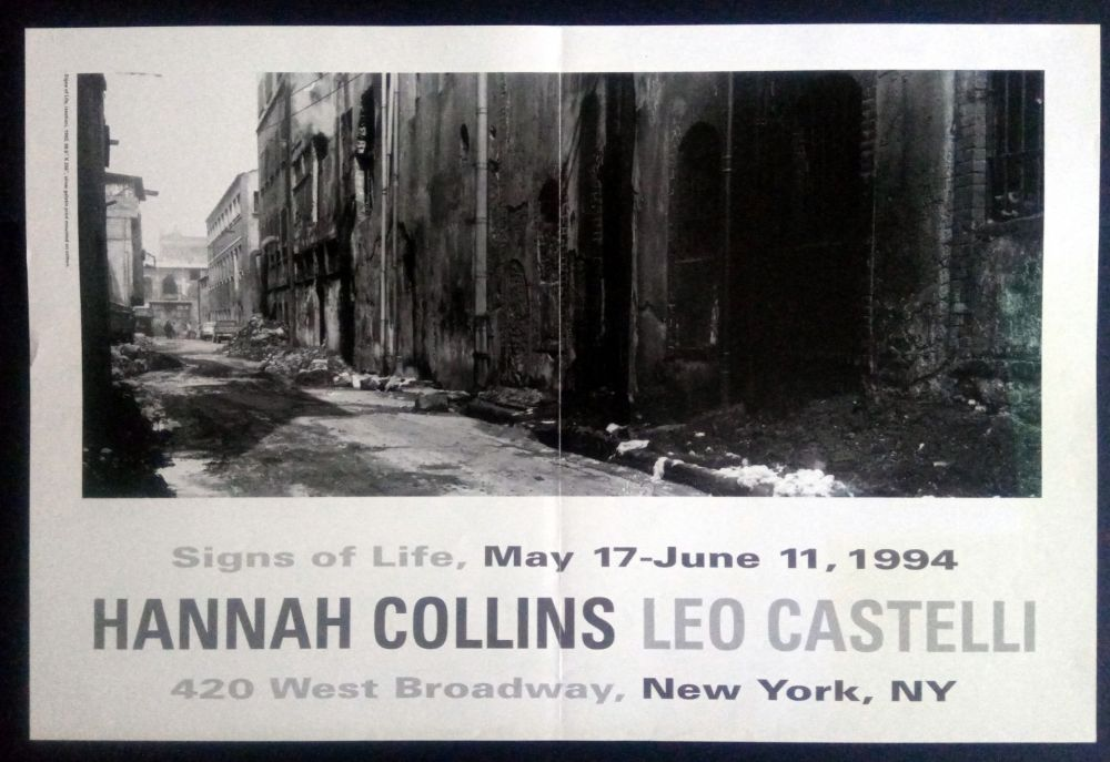 Poster Collins - Signs of Life May 17- June 11 1994 Leo Castelli