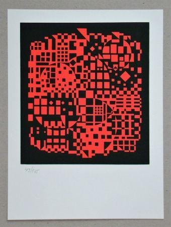Screenprint Vasarely - Sikkaso