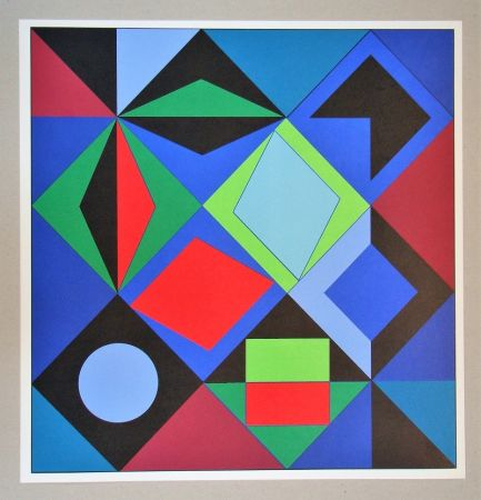 Screenprint Vasarely - Sikra - 1966
