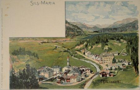 Lithograph Giacometti - Sils-Maria