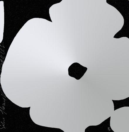 Screenprint Sultan - Silver Flowers