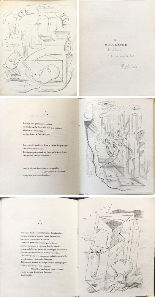 Illustrated Book Masson - SIMULACRE. 7 lithographies originales. Dédicacé (1925)
