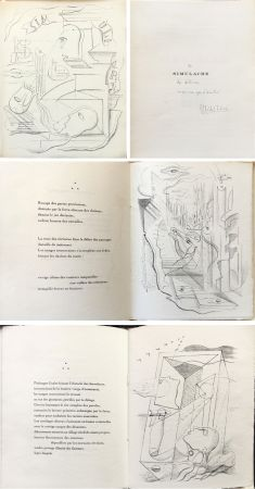 Illustrated Book Masson - SIMULACRE. 7 lithographies originales. Dédicacé (1925)