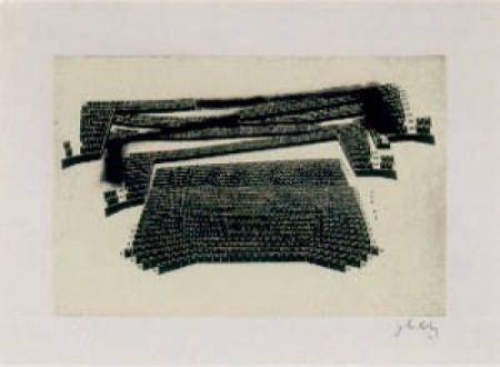 Lithograph Kuitca - Sin título-1