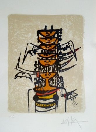 Lithograph Lam - Sin Título