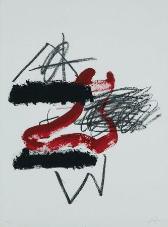 Lithograph Tàpies - Sin título