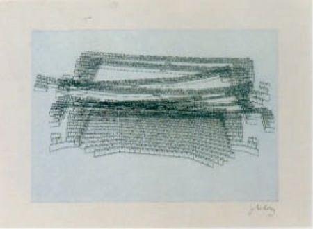 Lithograph Kuitca - Sin título-2