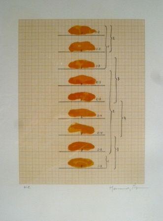 Lithograph Hernandez Pijuan - Sin Título