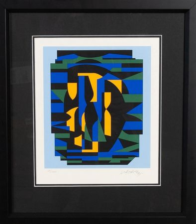Screenprint Vasarely - Sin titulo
