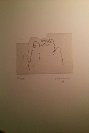 Etching Chillida - Sin Titulo