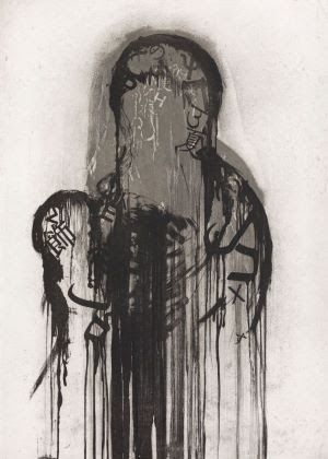 Engraving Plensa - Sin titulo 2