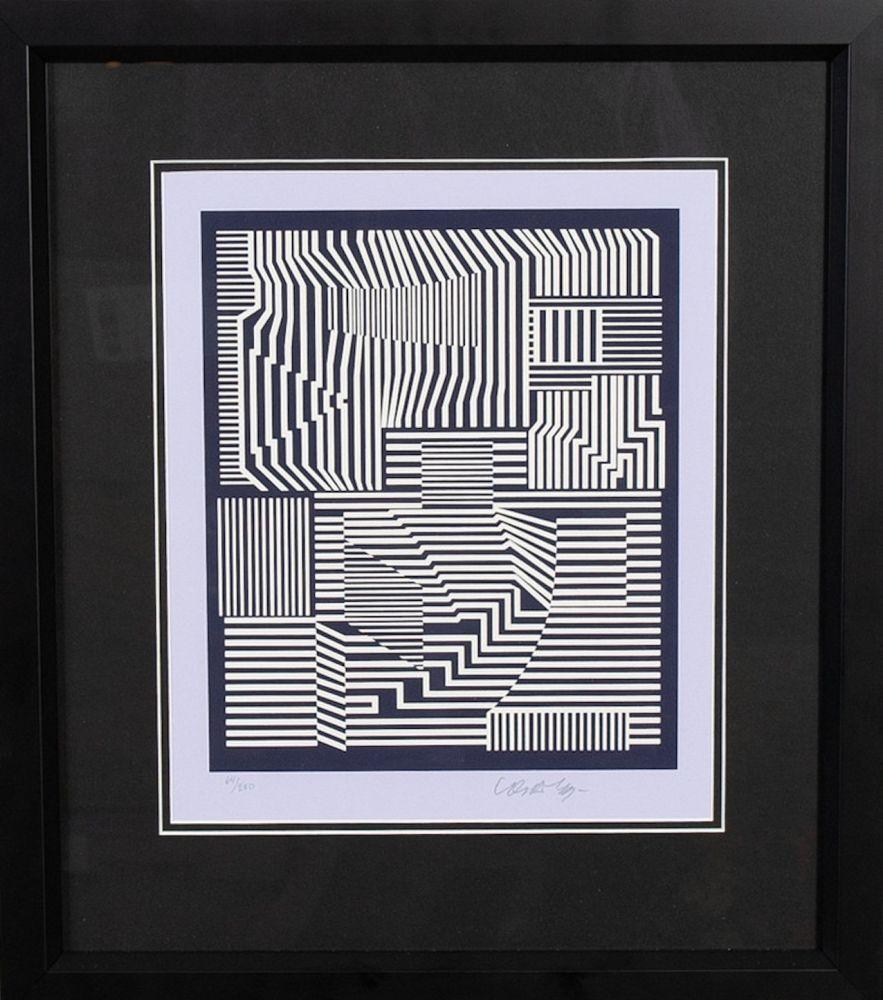 Screenprint Vasarely - Sin titulo I
