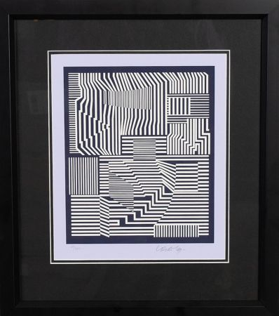Screenprint Vasarely - Sin titulo I