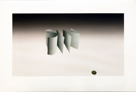 Lithograph Ruscha - Sin with Olive