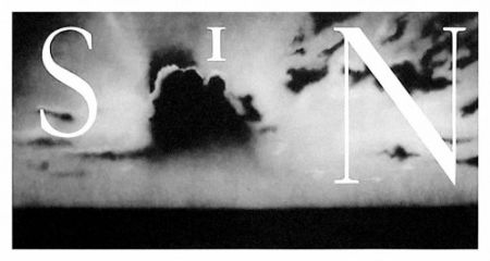 Lithograph Ruscha - Sin / Withouth