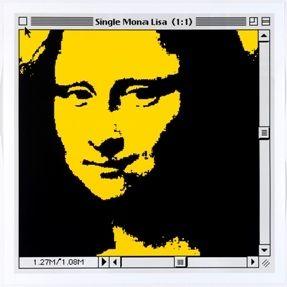 Lithograph Pusenkoff - Single Mona Lisa yellow for Barcelona