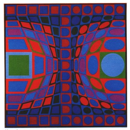 Screenprint Vasarely - Sinond, from the album vi-va portfolio