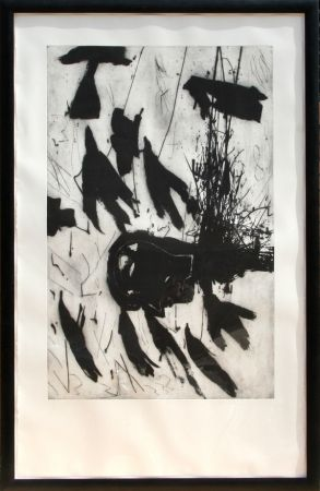Etching And Aquatint Paladino - Sirene - Triptych #3