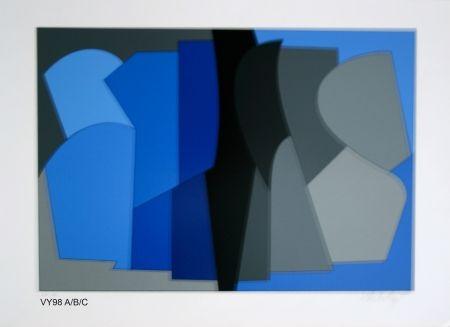 Screenprint Vasarely - Siris kek