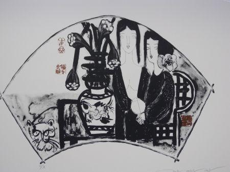 Lithograph Tongzhengang - Sisters