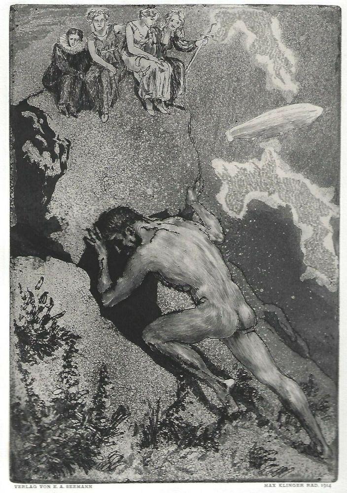 Etching And Aquatint Klinger - Sisyphus / Die Fakultäten