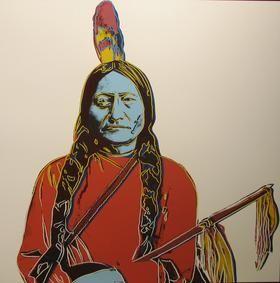 Screenprint Warhol - Sitting Bull