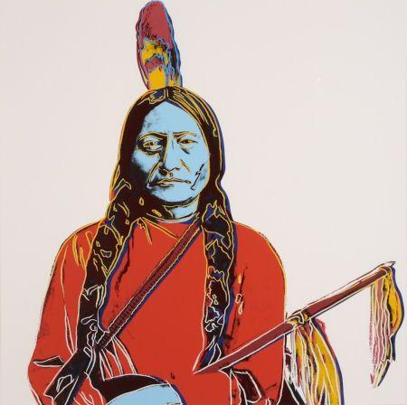 Screenprint Warhol - Sitting Bull A70 (FS IIIA.70)