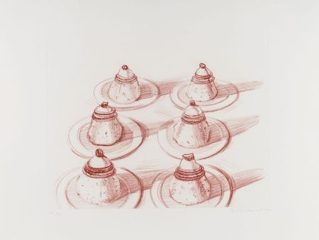 Etching Thiebaud - Six Desserts, from Recent Etchings II