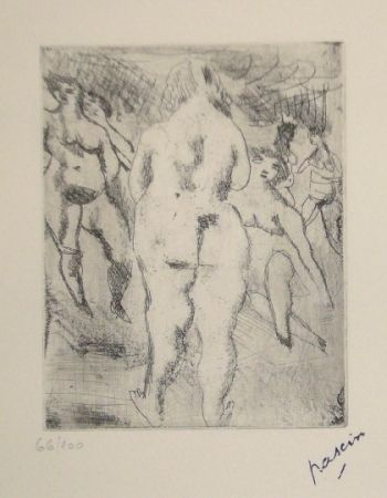 Drypoint Pascin - Six Femmes nues