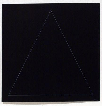 Etching And Aquatint Lewitt - Six Geometric Figures - Triangle