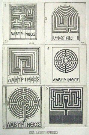 Aquatint Tilson - Six labyrinths