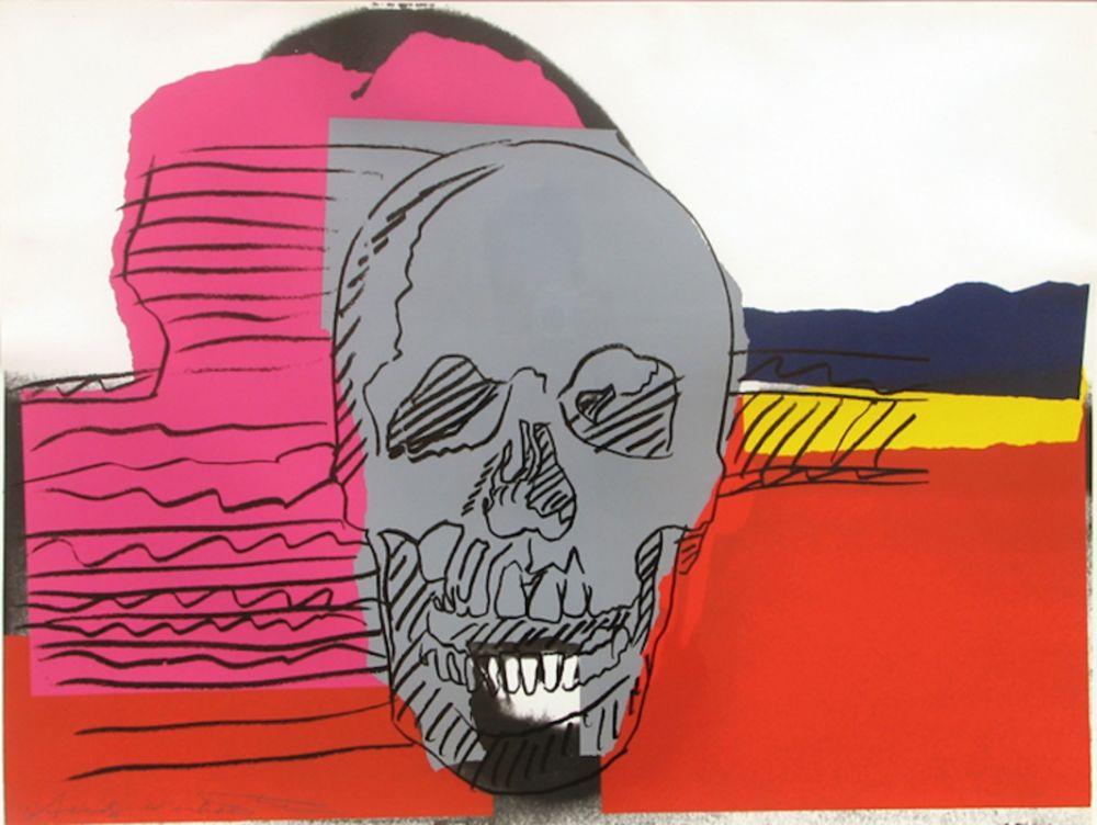 Screenprint Warhol - Skull (FS II.159)