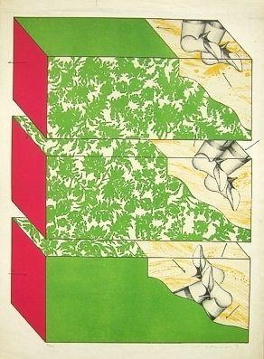 Lithograph Ikeda - Sky garden