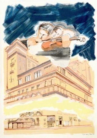 Screenprint Rivers - Sky Music Over Carnegie Hall