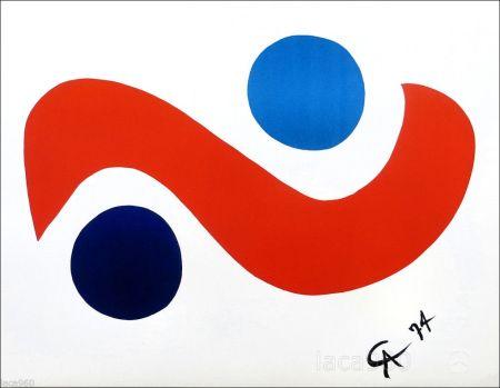 Lithograph Calder - Skybird
