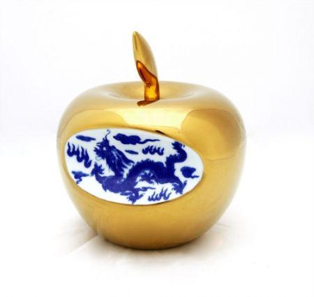 Ceramic Lihong - Small Apple – gold
