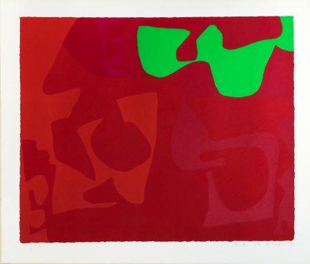 Screenprint Heron - Small Red January 1973: 2