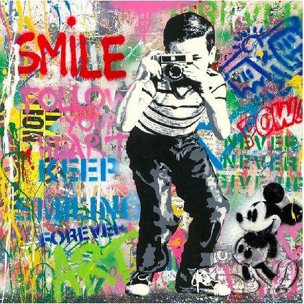 Screenprint Mr Brainwash - Smile, 2020