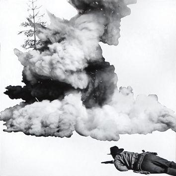 Lithograph Baldessari - Smoke, Tree, Shadow and Person
