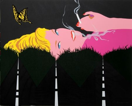 Screenprint D'arcangelo - Smoking Blonde