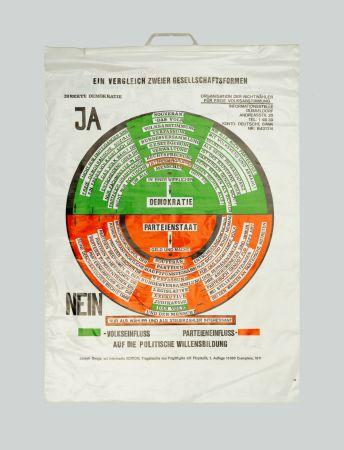 Screenprint Beuys - So kann die Parteiendiktatur uberwunden werden