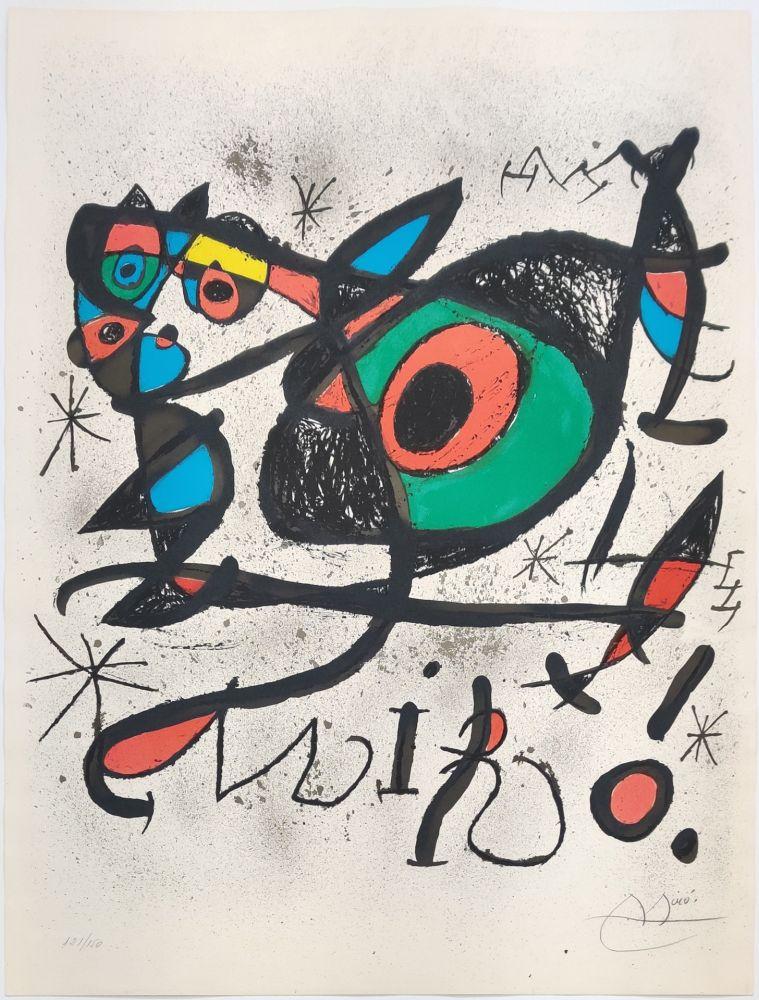 Lithograph Miró - SOBRETEIXIMS I ESCULTURES