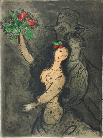 Lithograph Chagall - Soirée