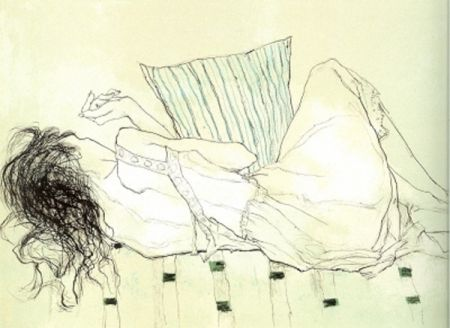 Lithograph Jansem - Solange du Dos