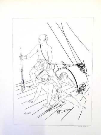 Lithograph Foujita - Soldat